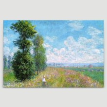 Meadow With Poplars by Claude Monet - Canvas Art