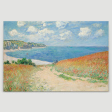 Path Through The Corn at Pourville by Claude Monet ped