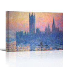 The Houses Of Parliament by Claude Monet - Canvas Print