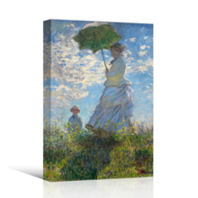 Woman With A Parasol by Claude Monet - Canvas Print