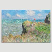 Cliff Walk at Pourville by Claude Monet (Version II) - Canvas Art