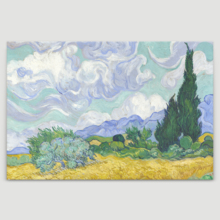Crafted to Perfection, Beautiful Craft, Wheat Field with Cypresses by Vincent Van Gogh Oil Painting Reproduction