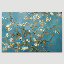 Canvas Wall Art Van Gogh Almond Blossom Painting Artwork for Home Decor Framed 16x24 inches