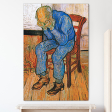 At Eternity's Gate (Sorrowing Old Man) Vincent Van Gogh - Oil Painting Reproduction on Canvas Prints Wall Art, Ready to Hang - 12x18 inches