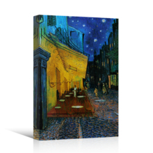 Cafe Terrace at Night Vincent Van Gogh Wall Decor, Created By a Professional Artist, Fascinating Craft