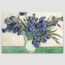 Quality Artwork, Wonderful Design, Irises in a Vase by Vincent Van Gogh Oil Painting Reproduction