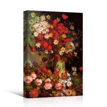 Poppy Flowers by Vincent Van Gogh - Oil Painting Reproduction on Canvas Prints Wall Art, Ready to Hang - 12x18 inches