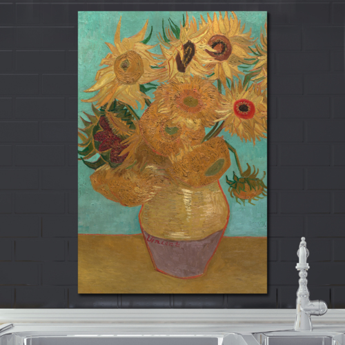 Grand Piece of Art, Premium Product, The Sunflowers by Vincent Van Gogh Oil Painting Reproduction