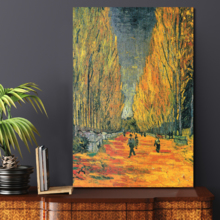 Les Alyscamps by Vincent Van Gogh Oil Painting Reproduction, Quality Artwork, Fascinating Creative Design
