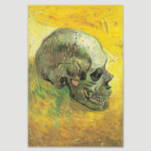 Skull by Vincent Van Gogh - Oil Painting Reproduction on Canvas Prints Wall Art, Ready to Hang - 16x24 inches