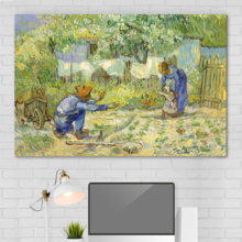 Pretty Piece of Art, First Steps (After Millet) Vincent Van Gogh Oil Painting Reproduction, With Expert Quality