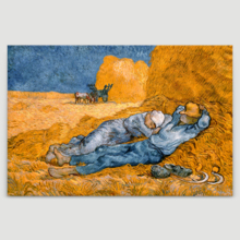 Siesta (Noon: Rest from Work, After Millet) by Van Gogh - Canvas Print