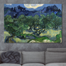 Quality Artwork, Dazzling Creative Design, Olive Trees by Vincent Van Gogh Oil Painting Reproduction