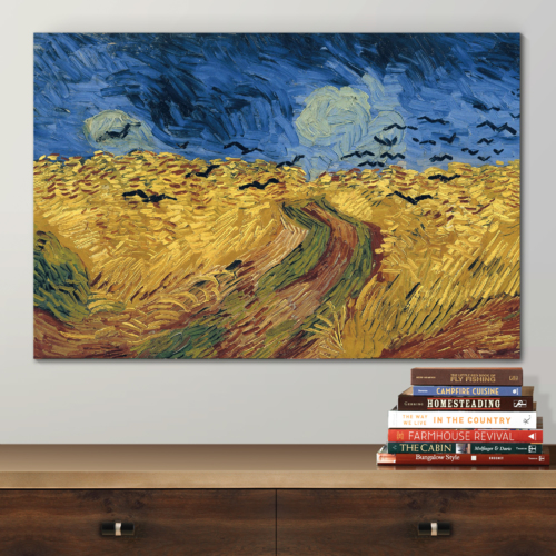 Top Quality Design, Marvelous Composition, Wheatfield with Crows by Vincent Van Gogh Oil Painting Reproduction