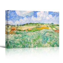 Plain Near Auvers by Vincent Van Gogh - Oil Painting Reproduction on Canvas Prints Wall Art, Ready to Hang - 16x24 inches