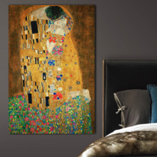 The Kiss (Lovers) by Gustav Klimt - Canvas Art Print