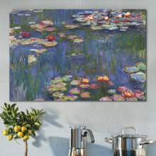 Water-Lilies by Claude Monet - Canvas Art