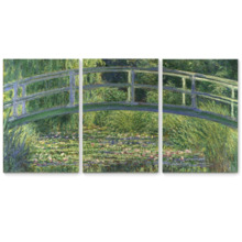 The Water-Lily Pond by Claude Monet - 3 Panel Canvas Art