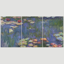 3 Panel Waterlilies by Claude Monet x 3 Panels, Made For You, Gorgeous Picture
