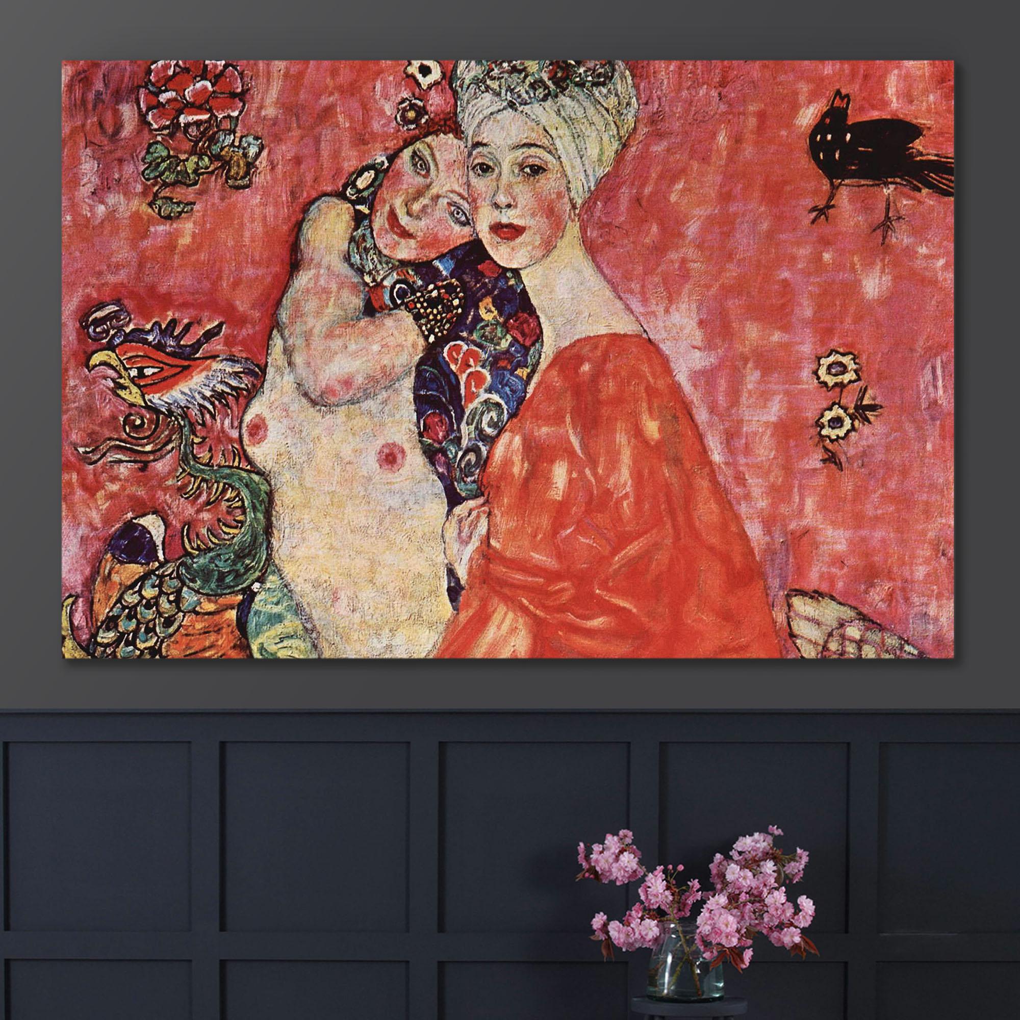 The Woman Friends by Gustav Klimt - Canvas Art