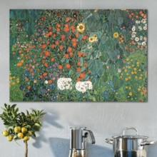 Marvelous Print, Made With Love, Sunflowers with Various Flowers by Gustav Klimt