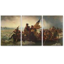 Crossing the Delaware - 3 Panel Canvas Art