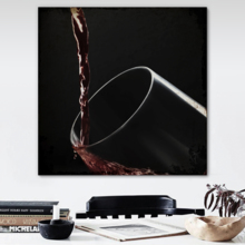 Professional Creation, Grand Composition, Square Pouring Wine into Glass