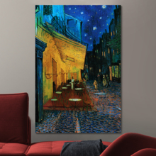 Cafe Terrace at Night Van Gogh Poster Wall for Living Room High Definition Printed