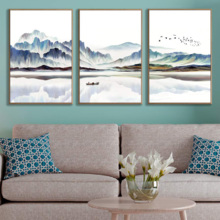 """Framed Canvas Wall Art for Living Room, Bedroom Canvas Prints for Home Decoration Ready to Hanging - 16""""x24""""x3 Panels"""