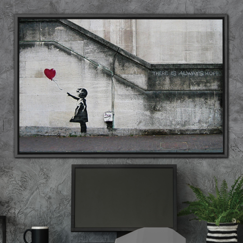 Girl With Balloon There Is Always Hope by Banksy