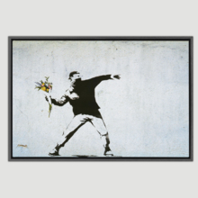 Rage The Flower Thrower Palestine by Banksy