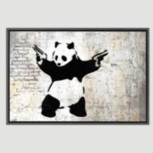 Panda With Guns Stick Em Up by Banksy