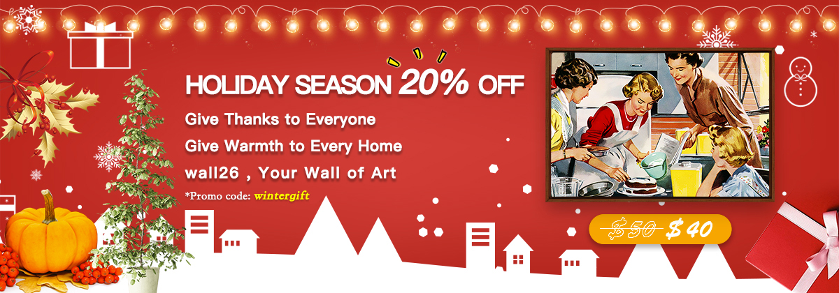 Home Page Holiday Sales 20% OFF Slider Banner